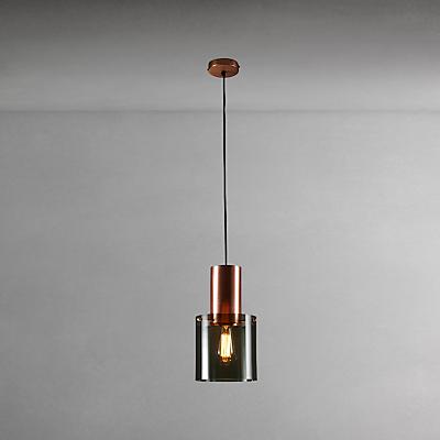 Original BTC Walter Size 2 Ceiling Light, Anthracite/Copper