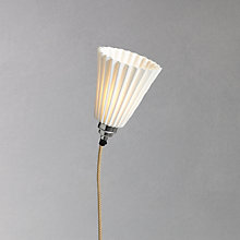 Buy Original BTC Portable Medium Pleat Wall Light, White Online at johnlewis.com