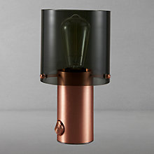 Buy Original BTC Walter Size 1 Table Lamp, Anthracite/Copper Online at johnlewis.com