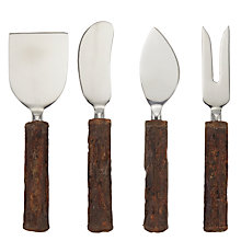 Buy John Lewis Bark Cheese Knives, Set of 4 Online at johnlewis.com