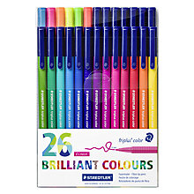 Buy Staedtler Triplus Colour Fibre Tip Pens, Pack of 26 Online at johnlewis.com