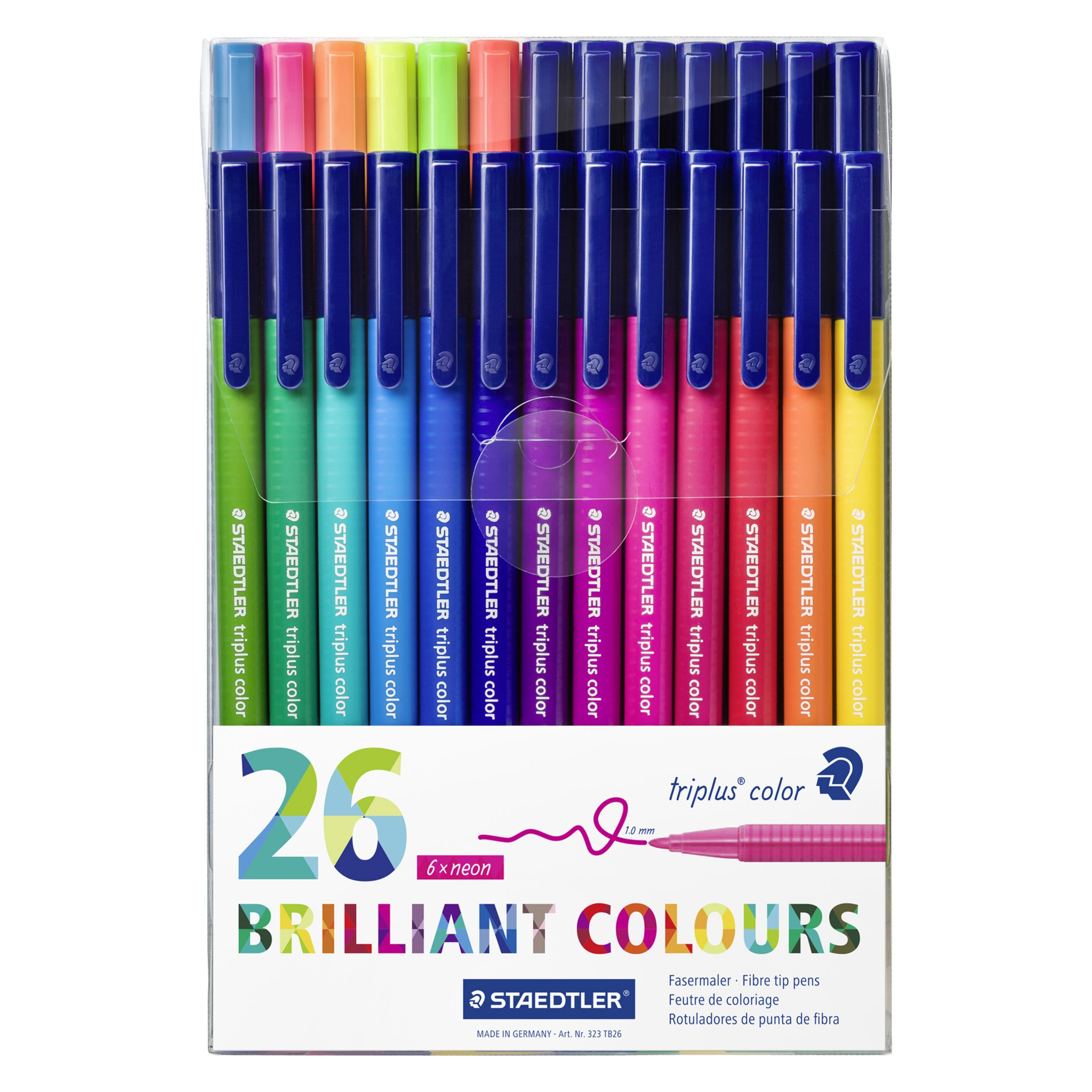 Staedtler Staedtler Triplus Colour Fibre Tip Pens, Pack of 26