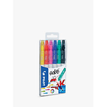 Buy Pilot Frixon Eraseable Colouring Pens, Pack of 6 Online at johnlewis.com