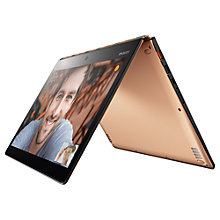 "Buy Lenovo YOGA 900 Convertible Laptop, Intel Core i7, 8GB RAM, 256GB SSD, 13"" QHD+ Touch Screen, Champagne Online at johnlewis.com"