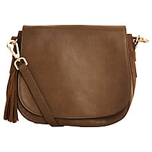 Buy Oasis Leather Eda Saddle Bag Online at johnlewis.com