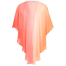 Buy Chesca Ombre Chiffon Shawl, Orange/Coral Online at johnlewis.com
