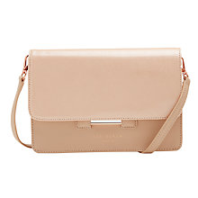 Buy Ted Baker Mariann Leather Across Body Bag, Peach Online at johnlewis.com