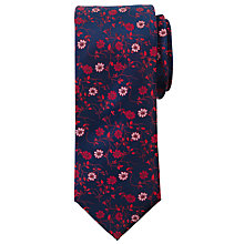 Buy John Lewis Navy Base Floral Silk Tie Online at johnlewis.com