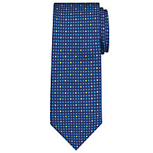 Buy John Lewis Grid Dot Silk Tie, Blue/Yellow Online at johnlewis.com