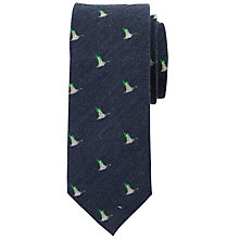 Buy John Lewis Wool Herringbone Duck Tie, Navy Online at johnlewis.com