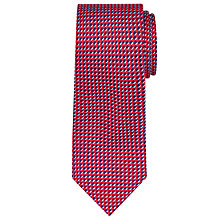 Buy John Lewis Check Silk Tie, Red/Blue Online at johnlewis.com