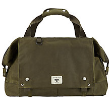 Buy Barbour + Universal Works Waxed Cotton Advance Holdall, Olive Online at johnlewis.com