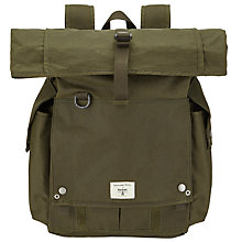 Buy Barbour + Universal Works Wax Cotton Alliance Backpack, Olive Online at johnlewis.com