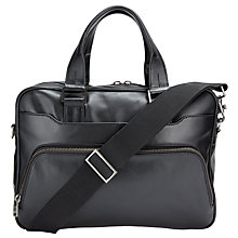Buy John Lewis Tokyo Leather Briefcase, Black Online at johnlewis.com