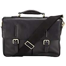Buy John Lewis Salzburg Leather Mini Briefcase, Black Online at johnlewis.com