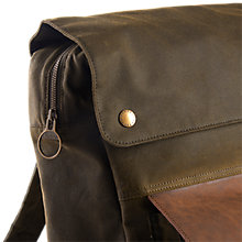 Buy Barbour Wax Cotton Urban Backpack, Olive Online at johnlewis.com