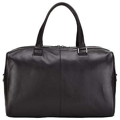 John Lewis Tokyo Leather Holdall, Black