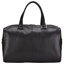 Buy John Lewis Tokyo Leather Holdall, Black Online at johnlewis.com