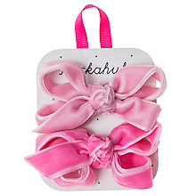 Buy Rockahula Girls' Velvet Bow Clips, Pack of 2, Pink Online at johnlewis.com