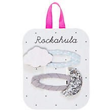 Buy Rockahula Children's Moon and Cloud Clips, Pack of 2, Blue/Multi Online at johnlewis.com