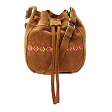 Buy John Lewis Children's Suede Bucket Bag, Tan Online at johnlewis.com