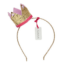 Buy Rockahula Girls' Crown Alice Band, Gold Online at johnlewis.com