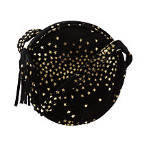 Buy John Lewis Children's Star Print Suede Circle Bag, Black Online at johnlewis.com