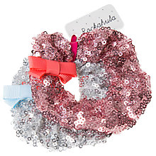 Buy Rockahula Girls' Sequin Scrunchie Headbands, Pack of 2, Pink/Silver Online at johnlewis.com