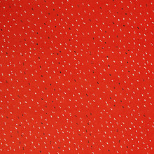 Buy John Lewis Tiny Dots Print Fabric, Red/White Online at johnlewis.com