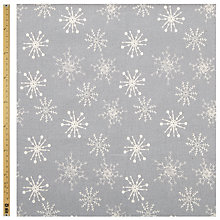 Buy John Lewis Linen Look Snowflake Fabric Online at johnlewis.com