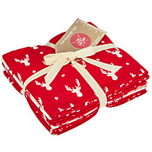 Buy John Lewis Christmas Stags Head Fat Quarter Fabrics, Pack of 5, Red/White Online at johnlewis.com