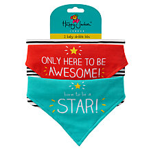 Buy Happy Jackson Born To Be A Star Bibs, Set of 2 Online at johnlewis.com