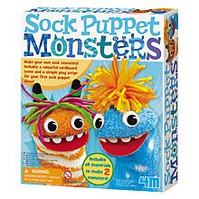 Buy Great Gizmos Sock Puppet Monsters Online at johnlewis.com