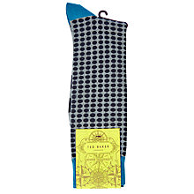 Buy Ted Baker Oxen Spot Socks, One Size Online at johnlewis.com