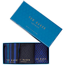 Buy Ted Baker Apply Socks Gift Set, Pack of 3 Online at johnlewis.com