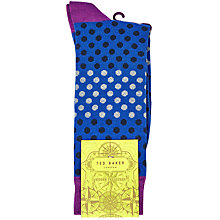 Buy Ted Baker Helium Spot Socks, Blue Online at johnlewis.com