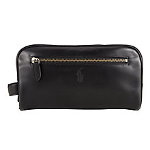 Buy Polo Ralph Lauren Leather Shaving Kit, Black Online at johnlewis.com