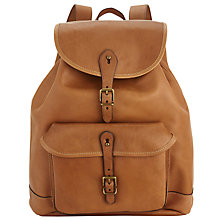 Buy Polo Ralph Lauren Leather Backpack, Cognac Online at johnlewis.com