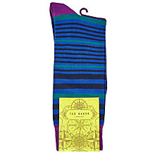 Buy Ted Baker Lemut Stripe Socks, Blue Online at johnlewis.com