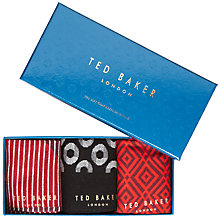 Buy Ted Baker Cloony Socks Gift Set, Pack of 3 Online at johnlewis.com