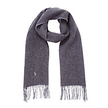 Buy Polo Ralph Lauren Virgin Wool-Blend Scarf, Grey Online at johnlewis.com