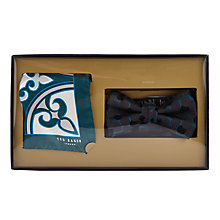 Buy Ted Baker Nofly Bow Tie and Pocket Square Set, Multi Online at johnlewis.com