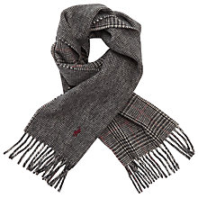 Buy Polo Ralph Lauren Reverse Plaid Scarf, Black/Grey Online at johnlewis.com