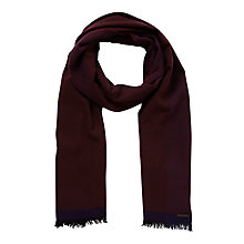 Buy Ted Baker Alfie Scarf, Dark Red Online at johnlewis.com
