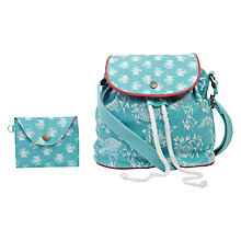 Buy Fat Face Girls' Shell Print Festival Bag, Dusky Aqua Online at johnlewis.com