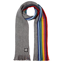 Buy Paul Smith Reversible Multi Stripe Wool Scarf Online at johnlewis.com