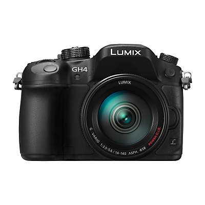 """Panasonic Lumix DMC-GH4 Compact System Camera with 14-140mm Lens, 4K UHD, 16.05MP, OLED EVF, 3"""" OLED Screen"""