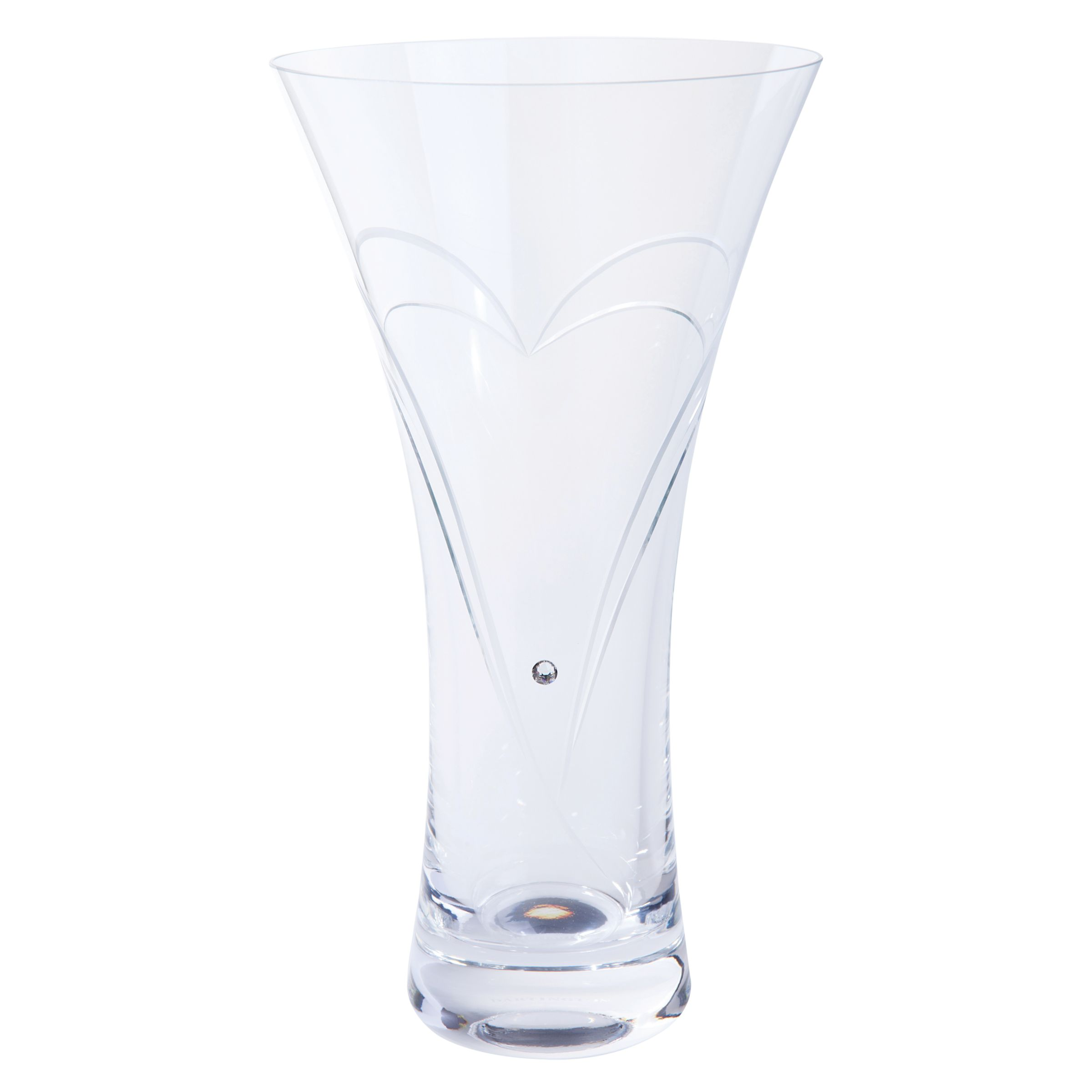 Dartington Crystal Dartington Crystal Romance Vase, Large, Clear