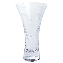 Buy Dartington Crystal Romance Vase, Small, Clear Online at johnlewis.com