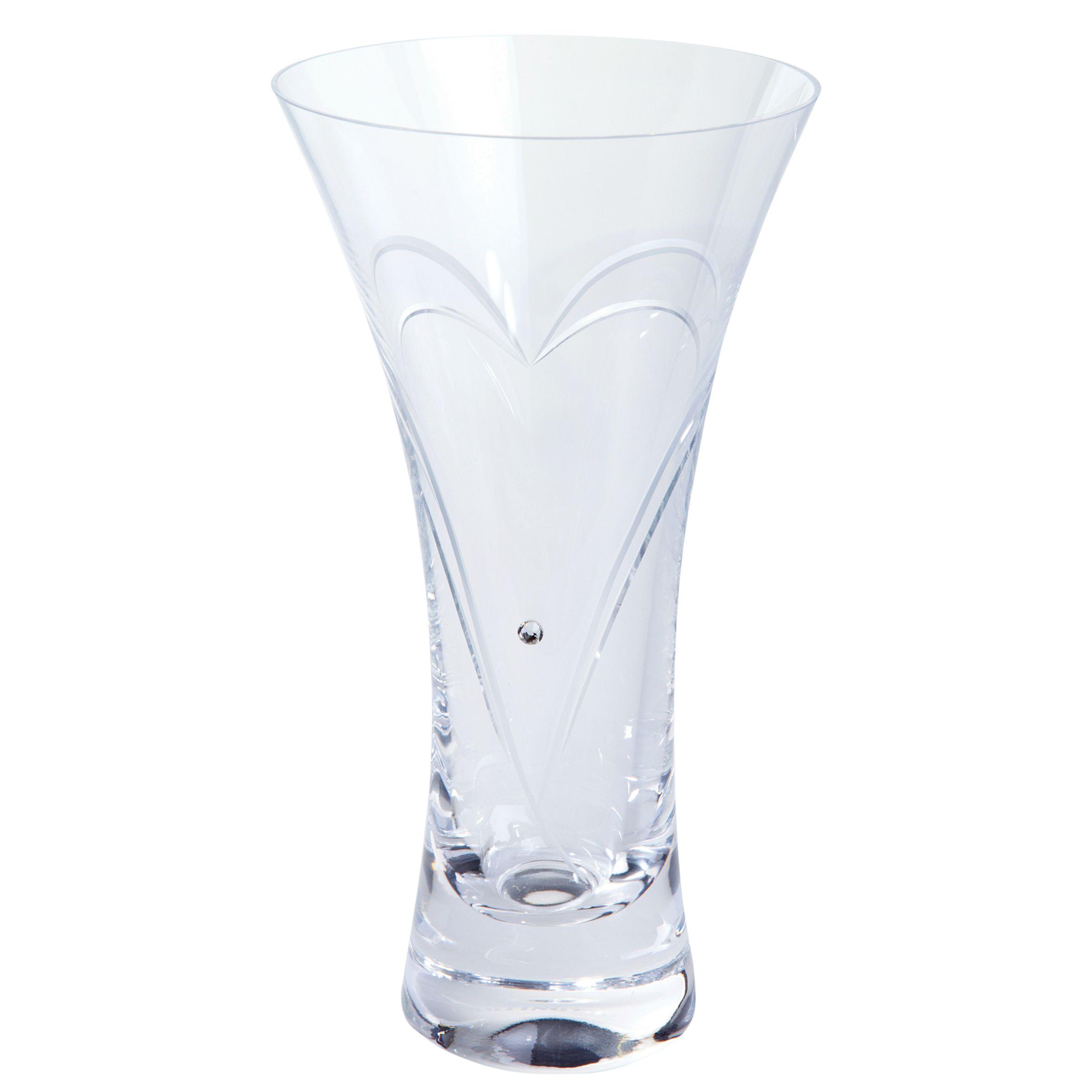 Dartington Crystal Dartington Crystal Romance Vase, Small, Clear
